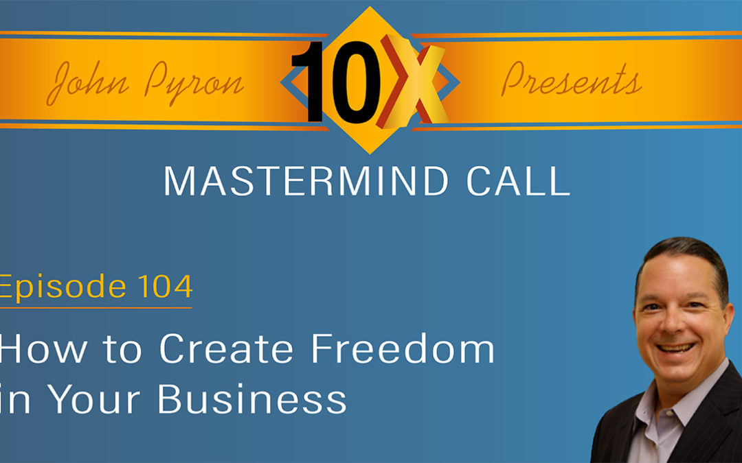 Episode 104 – How to Create Freedom in Your Business Video