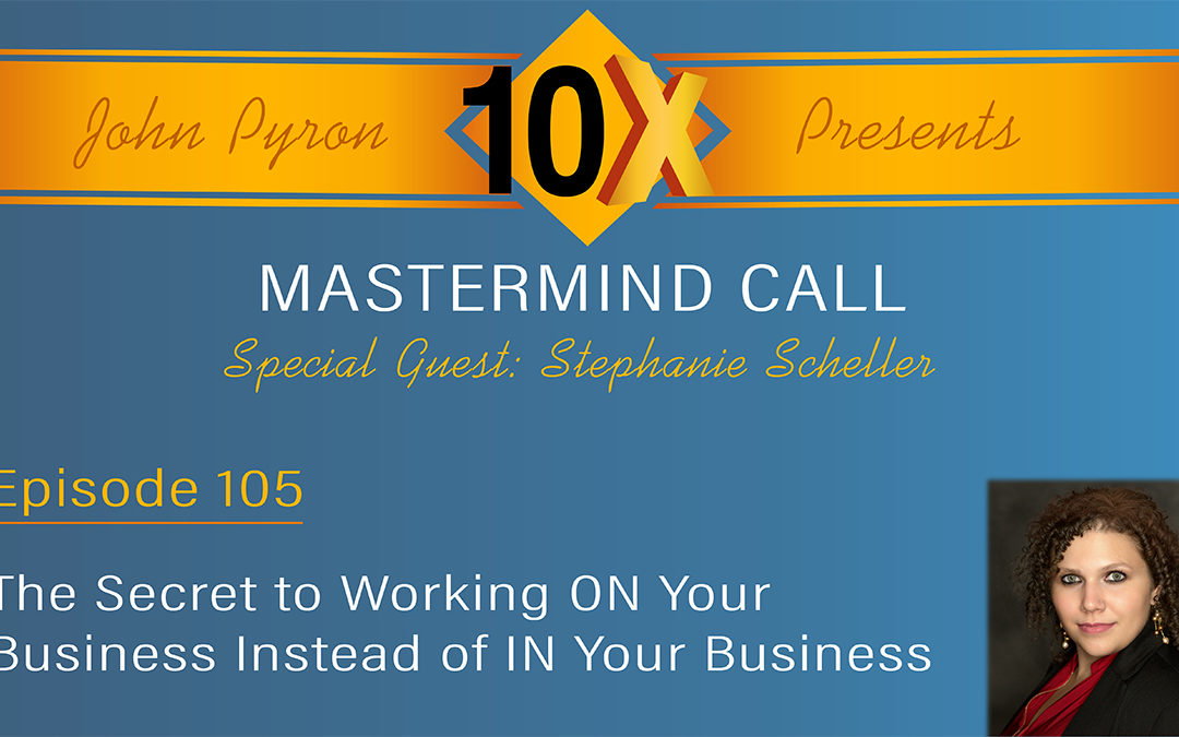 Episode 105 – How to Work On Your Business Instead of In Your Business