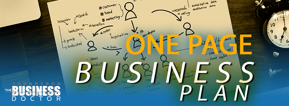 The Power of the One Page Strategic Plan