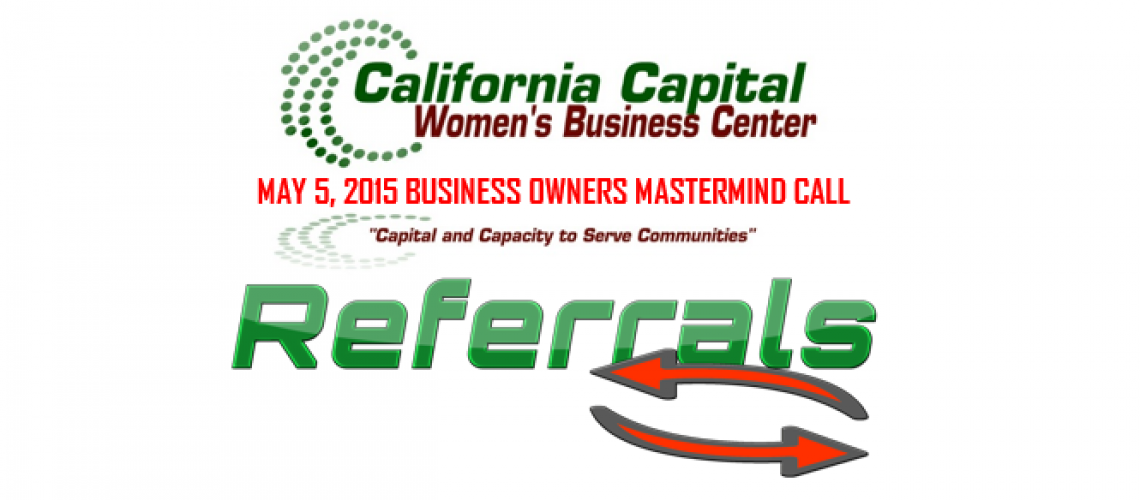 20150505-SBABusinessOwnersCall-Referrals